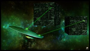 2 Cubes and an Enterprise by MotoTsume