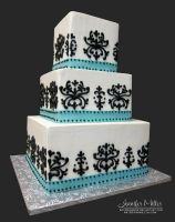 Black and White Damask by ArteDiAmore
