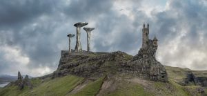 Wizard's Tower.. by AledJonesStockNArt