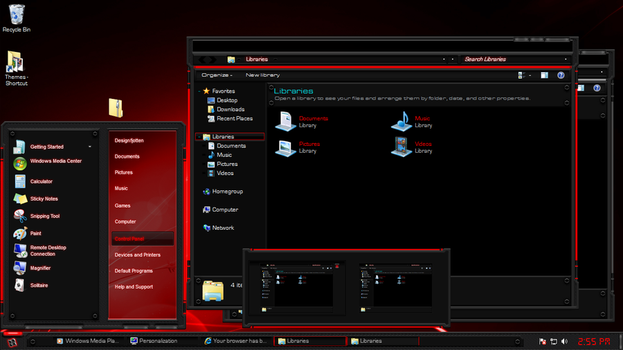 Tech-Light-Red Windows 7 Theme by Designfjotten