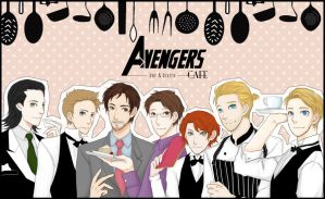 Avengers CAFE by bluehippopo