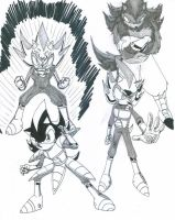 Shadow as Vegeta by Gojira007