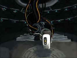 GLaDOS Speedpainting by DemonDragonSaer