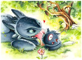 Bright Eyes and Toothless Part 2 by Naschi