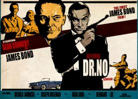 Dr.no - From russia with love style poster by WeskerFan1236