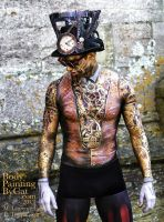Victorian Magic Man Bodypaint Art Couture winner by Bodypaintingbycatdot