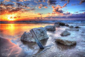 Sunset at the beach by dorwein