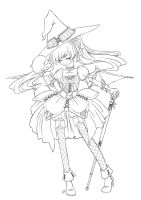 Halloween Queen Lineart by angelnablackrobe