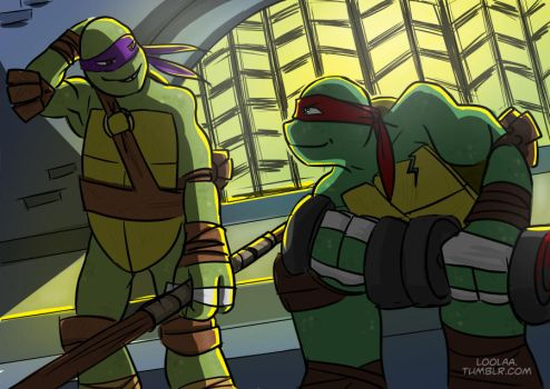 Don And Raph by loolaa