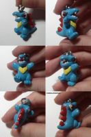 Totodile Charm by ChibiSilverWings