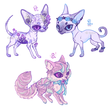 Pastel Goth Cats Auction -CLOSED- by Isavi