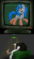 Littlepip sure likes it too by JetWave