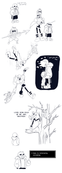 Undertale - I can't stop doodling by TC-96