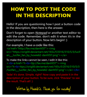 [2017] How To Post The Code In The Description by Howie62