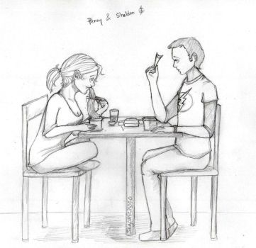 TBBT: Sheldon and Penny by Segomichoco