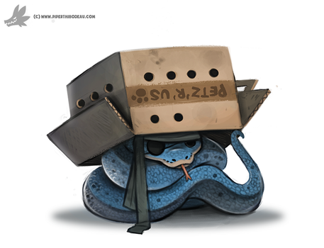 Daily Painting #964. Sssolid Snake (FA) by Cryptid-Creations