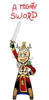 Smite - A Mighty Sword (Chibi) by Zennore