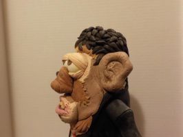 Leatherface Bubba potatohead Left side by Potatoheadmaster