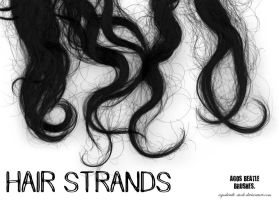 BRUSHES: Hair strands by agosbeatle-stock