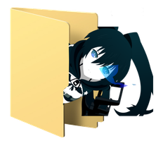 Black Rock Shooter Folder Icon [5] by Hinatka3991