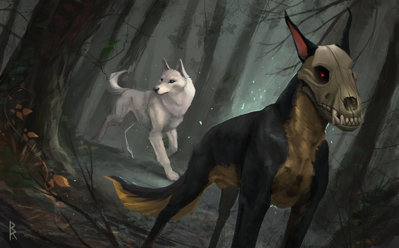 Commission: in the forest by Brevis--art