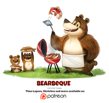 Day 1378. Bearbeque by Cryptid-Creations