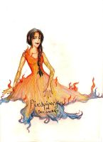 Girl On Fire by piedpipergirl