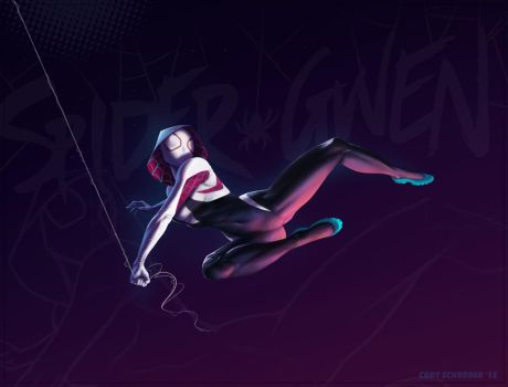 Spider Gwen by cschroder