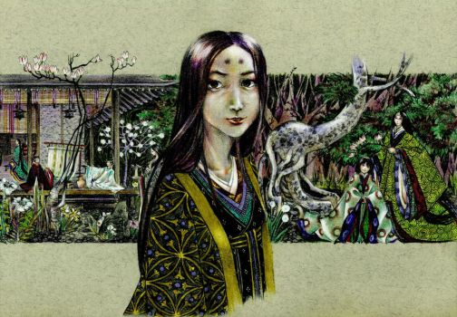 Shikigami in the garden by john-n-mary