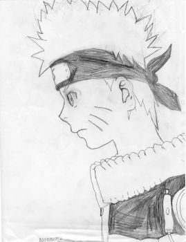 Naruto Side Face by WormApocalypse