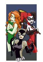 The Gals of Gotham by Neurquadic
