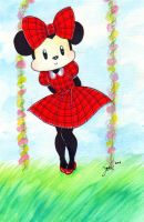 CE: Minnie Mouse in Spring by nanako87