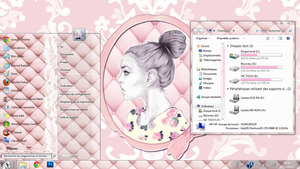 Pink Theme for Windows 7 by mllebarbie03