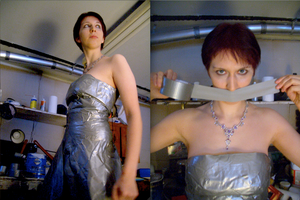 Duct Tape Dress AlternateViews by panandora
