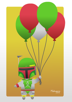 Boba Fett Birthday Card by MahiyanaCarudla