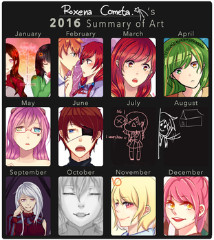 2016 Summary of Art by RoxenaLynn