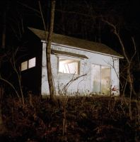back shack at night by guost