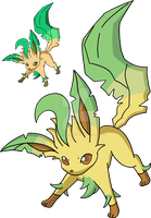 470 - Leafeon - Art v.2 by Tails19950