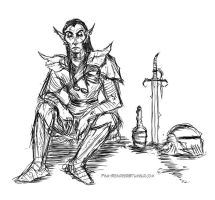 Dunmer Day Off by Velothii