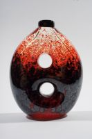 Red and Black Vase Two Holes by der-Machtig