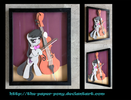 Commission: Octavia Shadowbox 11x14 by The-Paper-Pony