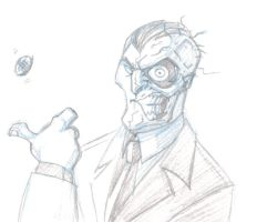 DAILY SKETCH Two-Face by KrisSmithDW