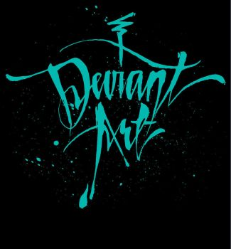 deviant Cursive T-Shirt - Black by deviantWEAR