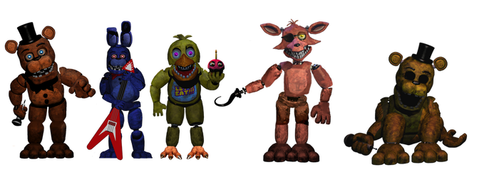 Withered Animatronics 100 Watchers By Lafergas Deviantart