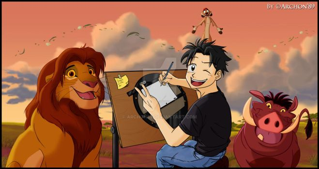 Me and our Lion King friends 2.0 by Archon89