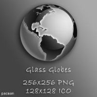 Glass Globe Icons by pacman121