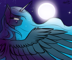 Goddess of The Night by AnnaBannanas