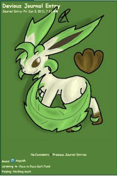 Leafeon Journal Skin by AbyssinChaos