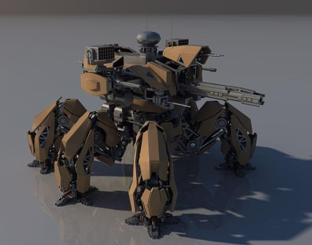 Annihilator Battle mech MK II WIP. by Avitus12