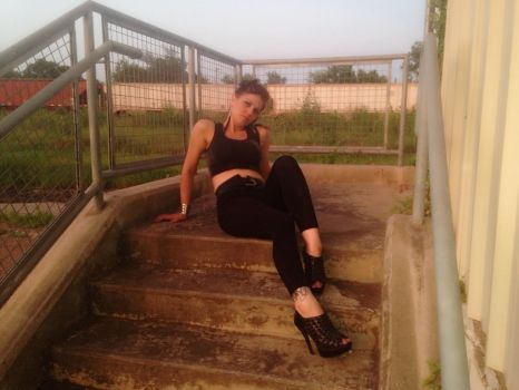 Girl on stairs 8 by tiffani83